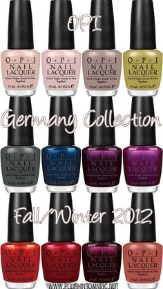 Coming Soon: OPI Germany Collection for Fall/Winter 2012 | polish insomniac   # Pinterest++ for iPad #