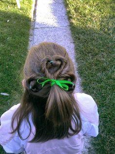 St. Patricks Day hair