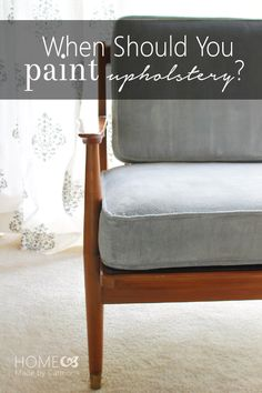 Home Made by Carmona: How To Know When Upholstery Should Be Painted