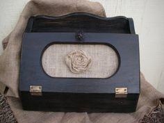 Vintage black breadbox