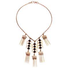 Hera Black necklace by Lulu Frost