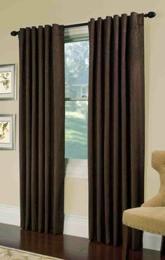 Gabreille a foam backed back tab panel, Floral & Scroll tone on tone Jacard.  #Tab #Top #Curtains