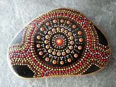 Dot Painted Beach Stone/Painted Stone/Painted by TheLakeshoreStore, $20.00