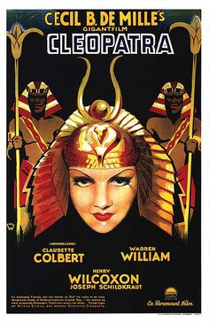 Claudette Colbert in Cecil B. DeMille's Cleopatra.