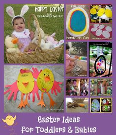 Easter Activities for All Ages including Babies and Toddlers from The Educators' Spin On It
