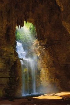 Waterfall Grotto - by Mike Dobel