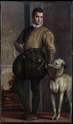 Paolo Veronese (Paolo Caliari (Italian, 1528–1588). Boy with a Greyhound, possibly 1570s. The Metropolitan Museum of Art, New York. H. O. Havemeyer Collection, Bequest of Mrs. H. O. Havemeyer, 1929 (29.100.105) #dogs