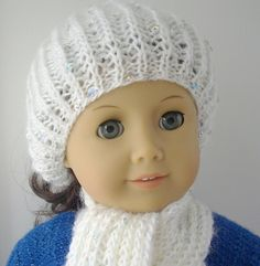 Waiting for Christmas white slouchy hat and long scarf pattern by Irene Aksilenko