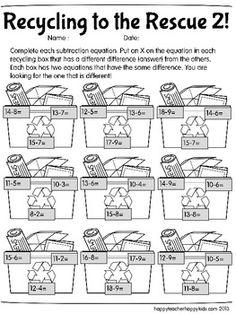 Earth Day Math Printables