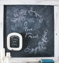 Valentine Chalkboard Art-our nighttime saying....cute for hallway