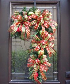Candy Cane Wreath Christmas Wreath Candy Cane