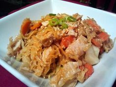 Chicken Pad Thai made with Spaghetti Squash (seriously one of our new favorites!) Gluten Free, Dairy Free, Grain Free  (Gluten Free Dinner Idea)