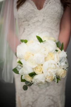 Gorgeous rose and peony bouquet: http://www.stylemepretty.com/maryland-weddings/2014/09/15/rustic-farmhouse-wedding-in-maryland/   Photography: Meaghan Elliott - http://mephotography.com/