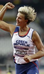 Barbora Spotakova secured the gold medal in javelin with a throw of 69.55 meters.