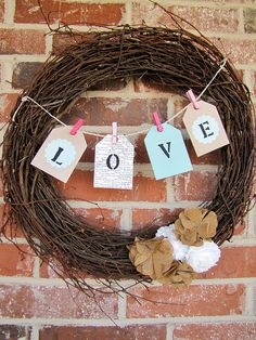 Easy Valentine's Day wreath! From Keeping Up with the Joneses