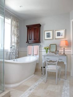 Sit Down and Stay Awhile - Our Favorite Designer Bathrooms on HGTV