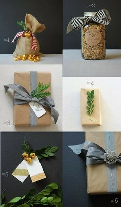 Rustic chic wrapping ideas