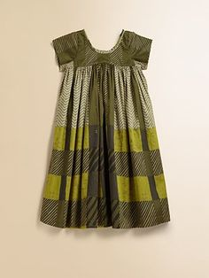 Burberry - Girl's Ruffled Check Dress - Saks.com