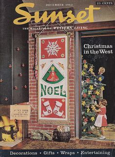 Sunset Magazine Cover December 1962 Christmas in the West