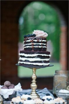 Chocolate Naked Wedding Cake 20 Decadent and Delicious Chocolate Wedding Cakes – Plus 10 Things You Never Knew About Chocolate!