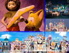 "... while at all times singing the same song (though in different languages) with the theme of ""it's a small world"" throughout. The ride originally was ..."