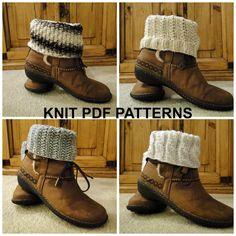 PDF Patterns Knit Boot Cuff, Leg Warmer 4 different patterns