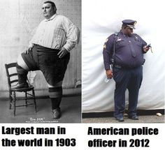 The evolution of obesity, it's almost the American average.