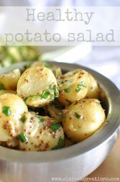 Healthy potato salad via www.clairekcreations.com