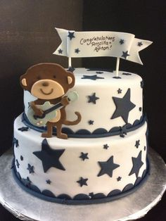 Rock Star Monkey Baby Shower cake