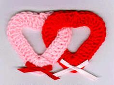 Double Hearts Fridgie - free crochet pattern