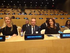 Her Highness Princess Mabel of the Netherlands and Crown Princess Mary of Denmark attend the UN General Assembly in NYC 9/22/2014