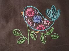bird detail.jpg | Flickr – Compartilhamento de fotos! embroidery patterns, simple embroidery ideas, bird embroidery, bird embroideri, embroidery on crochet, bordado, birds, vintage embroidery, simple embroidery stitches