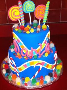 Candyland Theme Birthday Cake