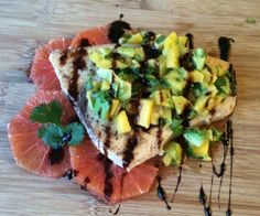 Lean swordfish with mango avocado salsa is bursting with refreshing flavor. Perfect for a grill day outside, too! http://stalkerville.net/ #paleo