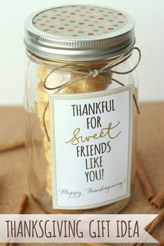 """Thankful for Friends like You"" Gift Idea with Free Printable - CUTE!"