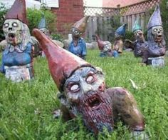 zombie gnomes for your yard!! These are awesome!!!!