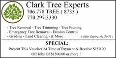 Look at this great offer from www.ClarkTreeExperts.com |  commercecouponbook.com