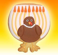 A menorah & turkey combination, a one of a kind celebratory cookie! #Menurkey