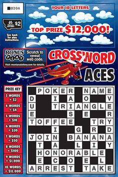 scratch ticket, crossword ace