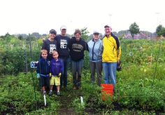 You can help hungry families in your neighborhood with community gardens.