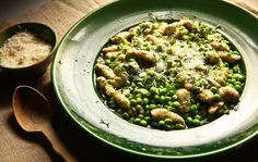 Green Gnocchi With Peas.