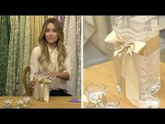 Lace candle/vases table settings