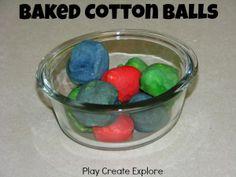 Baked Cotton Balls - fun to crunch!