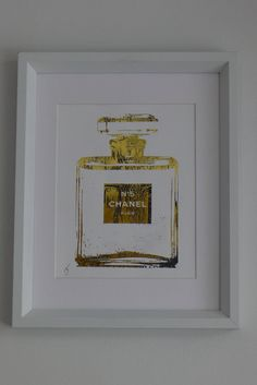 Chanel No 5 Perfume Bottle 24K Gold by ISeeNoise on Etsy, $20.00  *For Guest Bathroom*