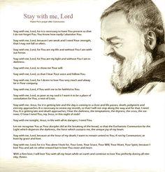 St.Padre Pio's Prayer After Communion