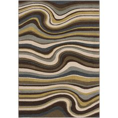 Artistic Weavers Cameroon Rectangular Blue Transitional Woven Area Rug (Common: 8-ft x 10-ft; Actual: 7.83-ft x 10.5-ft)