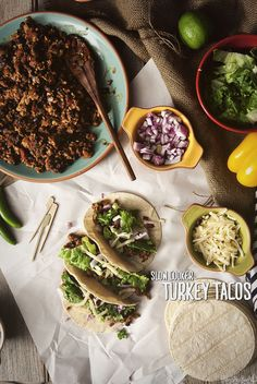 Slow Cooker Turkey Tacos // GirlCarnivore.com