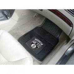 """Brooklyn Nets Heavy Duty 2-Piece Vinyl Car Mats 18""""x27""""   Nets Store"""