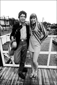 Leonard Cohen and Joni Mitchell at Newport 1967 - Photo By David Gahr