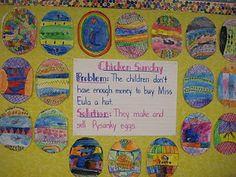 Pysanky Eggs using Patricia Pollaco books